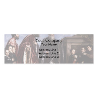 Titian- The Vendramin Family Venerating a Relic Business Card Templates