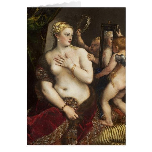 Titian Venus With A Mirror Fine Art Greeting Cards