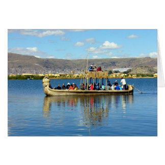 titicaca boat greeting card