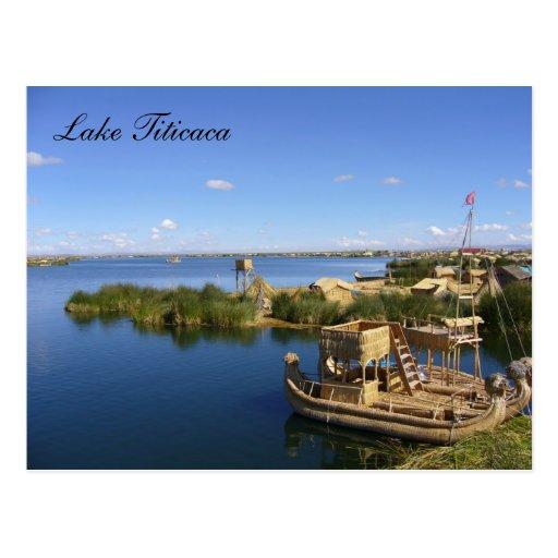 titicaca boats postcards