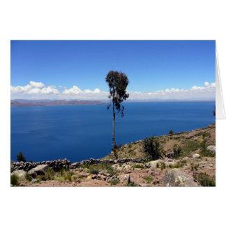 titicaca lone tree greeting card