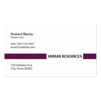 Title Bar (Palatinate Purple) Pack Of Standard Business Cards