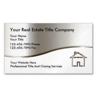 Title Company Business Magnets Magnetic Business Cards