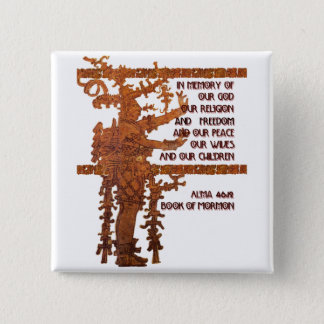 Title of Liberty: Book of Mormon Story 15 Cm Square Badge