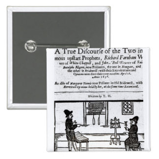 Title Page 'A True Discourse of the Two�' 15 Cm Square Badge
