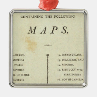 Title Page American atlas Christmas Ornament