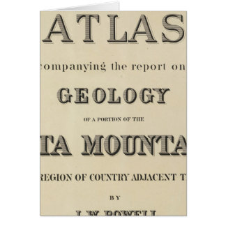 Title Page Atlas accompanying the report Card