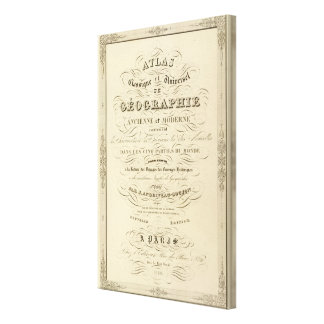 Title Page Atlas classical and universal geography Canvas Print