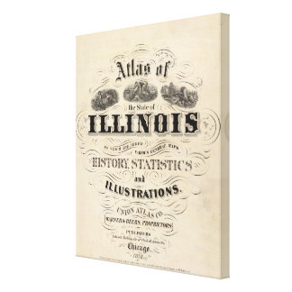 Title Page Atlas of the State of Illinois Canvas Print