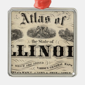 Title Page Atlas of the State of Illinois Christmas Ornament
