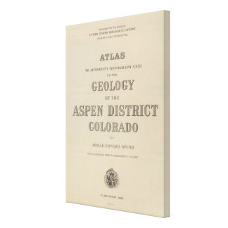 Title Page Atlas to the Geology Canvas Print