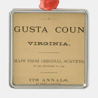 Title Page Augusta County, Virginia Silver-Colored Square Decoration