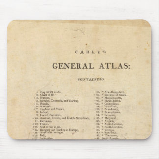 Title Page Carey's general atlas Mouse Mat