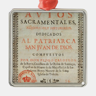Title page christmas ornament