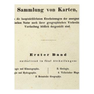 Title Page Dr Heinrich Berghaus Postcard