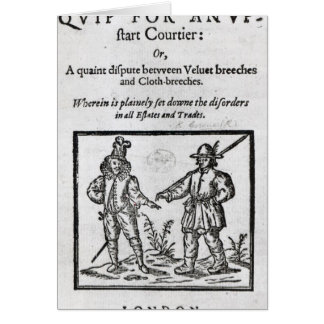 Title page for 'A Quip for an Upstart Courtier' Card