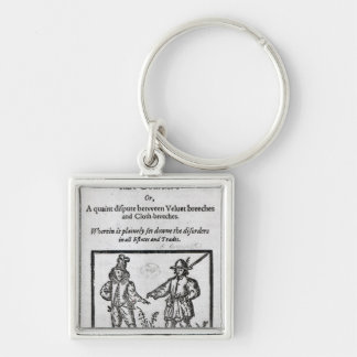 Title page for 'A Quip for an Upstart Courtier' Silver-Colored Square Key Ring