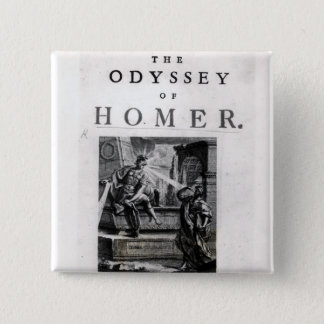 Title page for 'The Odyssey' by Homer 15 Cm Square Badge