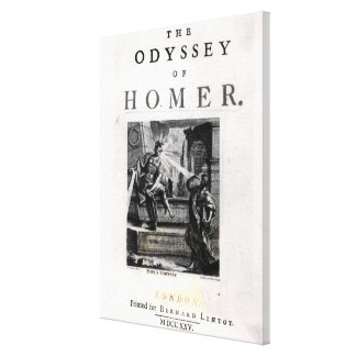 Title page for 'The Odyssey' by Homer Canvas Print