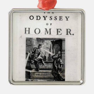 Title page for 'The Odyssey' by Homer Christmas Ornament
