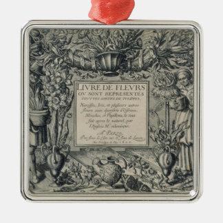 Title page from 'Livre des Fleurs' by Jean Le Cler Christmas Ornament