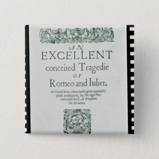 Title Page from 'Romeo and Juliet' 15 Cm Square Badge