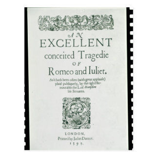 Title Page from 'Romeo and Juliet' Postcard