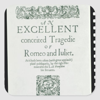 Title Page from 'Romeo and Juliet' Square Sticker