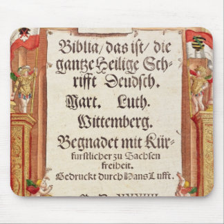 Title page from the Luther Bible, c.1530 Mouse Mat