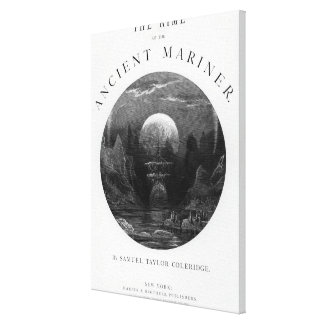 Title page from 'The Rime of the Ancient Mariner' Canvas Print