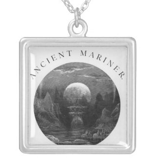 Title page from 'The Rime of the Ancient Mariner' Silver Plated Necklace