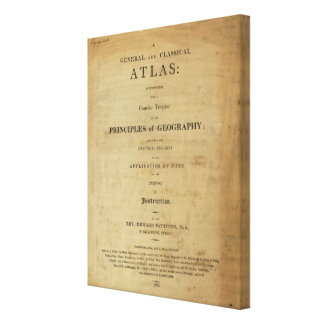 Title Page General & classical atlas Canvas Print