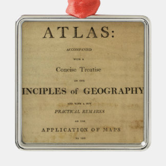 Title Page General & classical atlas Christmas Ornament