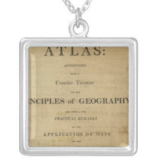 Title Page General & classical atlas Silver Plated Necklace