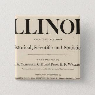 Title Page New atlas Illinois 15 Cm Square Badge