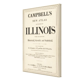 Title Page New atlas Illinois Canvas Print