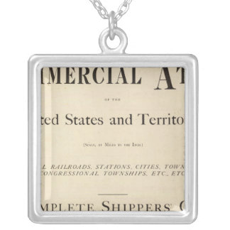 Title Page New commercial atlas Silver Plated Necklace
