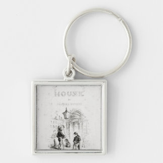 Title page of 'Bleak House' Silver-Colored Square Key Ring