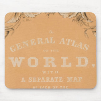 Title Page of General Atlas of the World Mouse Pad