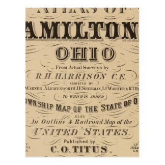 Title Page of Hamilton County Atlas Postcard