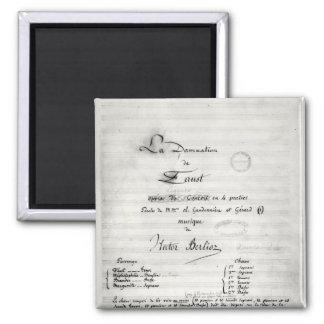 Title page of 'La Damnation de Faust' Fridge Magnets