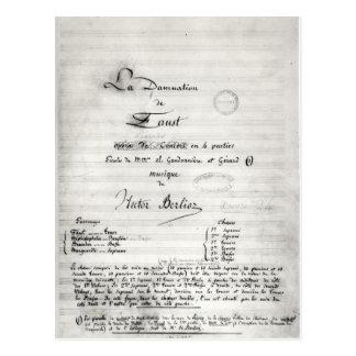 Title page of 'La Damnation de Faust' Postcard