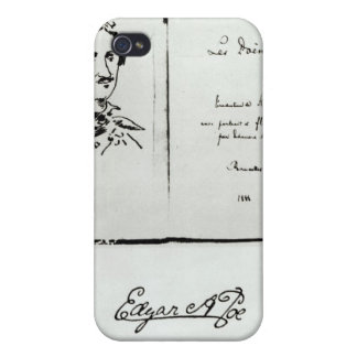 Title Page of 'Les Poemes' by Edgar Allan Poe Cases For iPhone 4