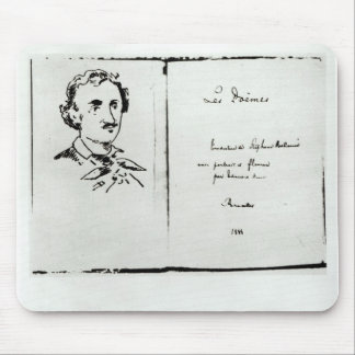 Title Page of 'Les Poemes' by Edgar Allan Poe Mouse Mat