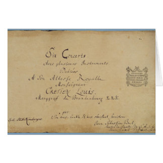 Title page of the 'Brandenburg Concertos' Greeting Card