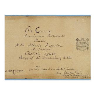 Title page of the 'Brandenburg Concertos' Postcard