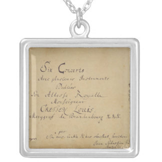 Title page of the 'Brandenburg Concertos' Square Pendant Necklace