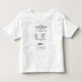 Title page of The True Levellers' Standard Toddler T-Shirt