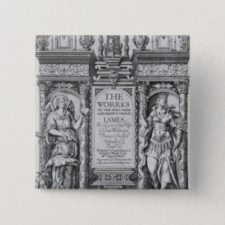 Title Page of 'The Works of James I', engraved by 15 Cm Square Badge