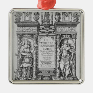 Title Page of 'The Works of James I', engraved by Christmas Ornament